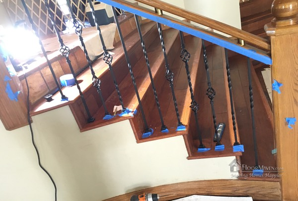 07 New spindles installed on staircase